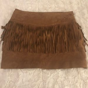 NWT Mango Leather Mini Skirt